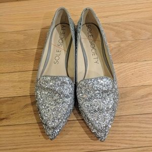 Sole Society cammila sparkle loafers